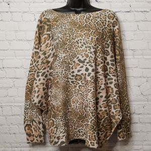 NWT Luisa Ricci Cheetah print sweater wool alpaca